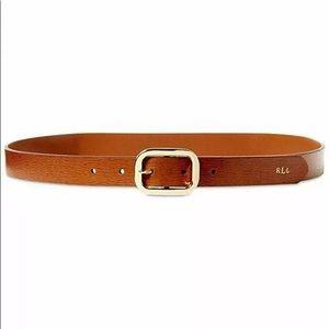 NWT Ralph Lauren Newbury Saffiano Leather Belt